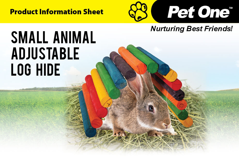 Small Animal Adjustable Log Hide