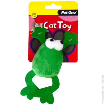 14.5CM Plush Frog Green Jumping Frog Cat Toy