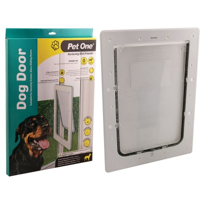 Polycarbonate Insulated Dog Door For Security Screens, Glass & Glass Sliding Doors
