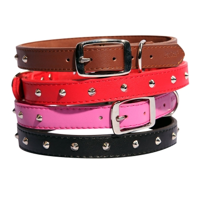 Single Row Studded Leather Collars