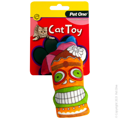 14CM Plush Tiki Drink Cat Toy