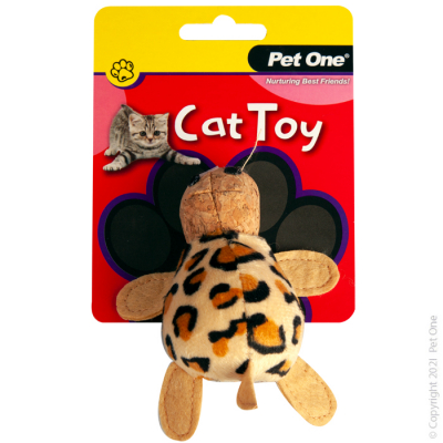 10.5CM Plush Leopard Tortoise Cat Toy
