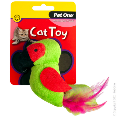 10CM Plush Parrot Green Cat Toy