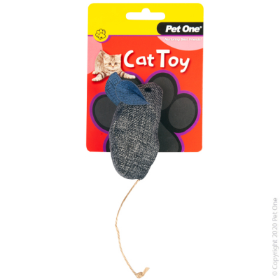 14.5CM Grey Blue Mouse Cat Toy