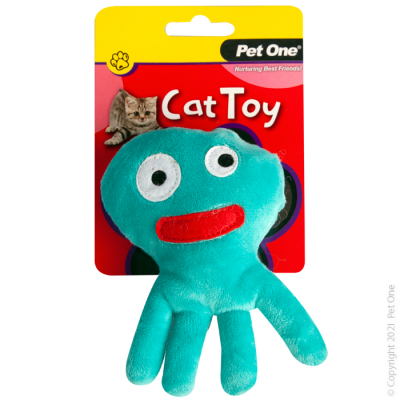 12.5CM Plush Blue Octopus Cat Toy